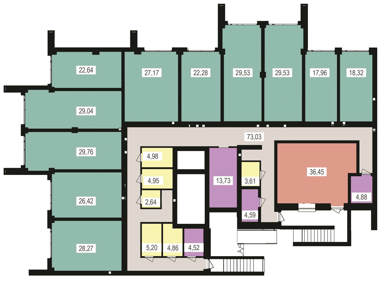 планування цоколя 5-ї секції ЖК 'Преміум Парк' в м.Житомир