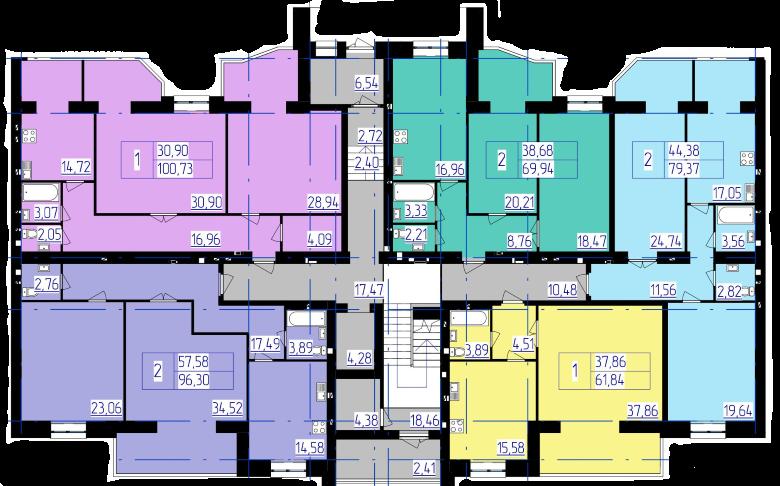 планування 4-ї секції ЖК 'Преміум Парк' в м.Житомир
