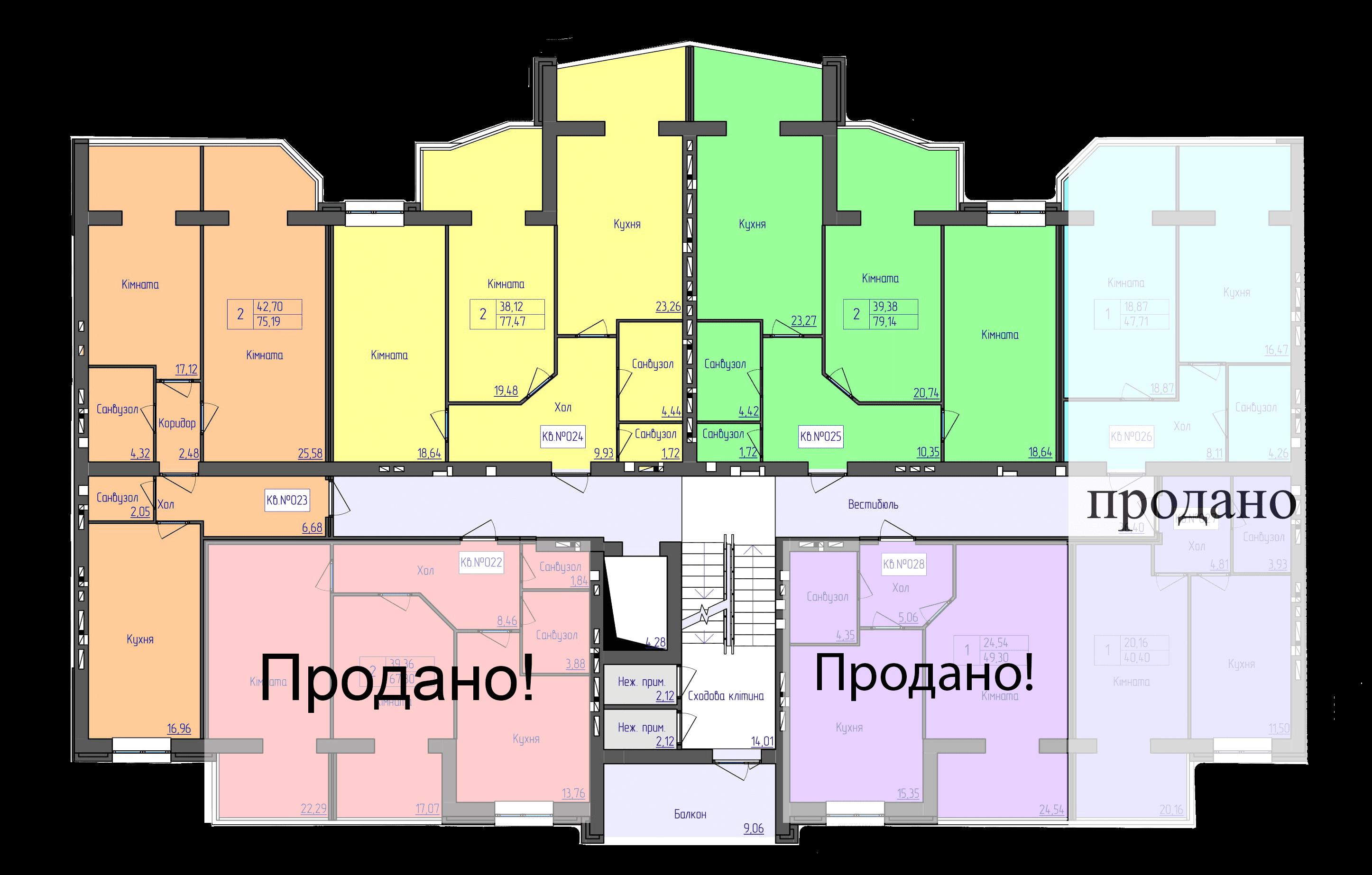 планування 3-ї секції ЖК 'Преміум Парк' в м.Житомир