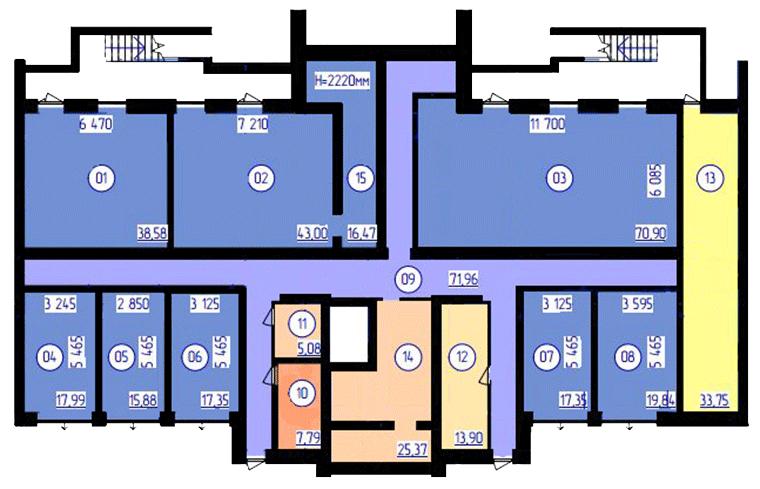 планування цоколя 4-ї секції ЖК 'Преміум Парк' в м.Житомир